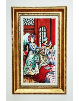 Framed Ceramic Tile Gravur